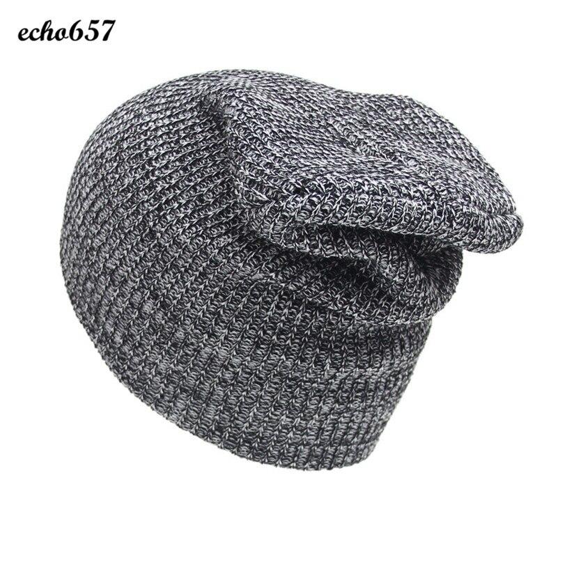 Newly Fashion Women Hat Echo657 Hot Sale Casual Fashion Unisex Winter Warm Knit Crochet Hat Braided Cap Dec 8  PY hot winter beanie knit crochet ski hat plicate baggy oversized slouch unisex cap