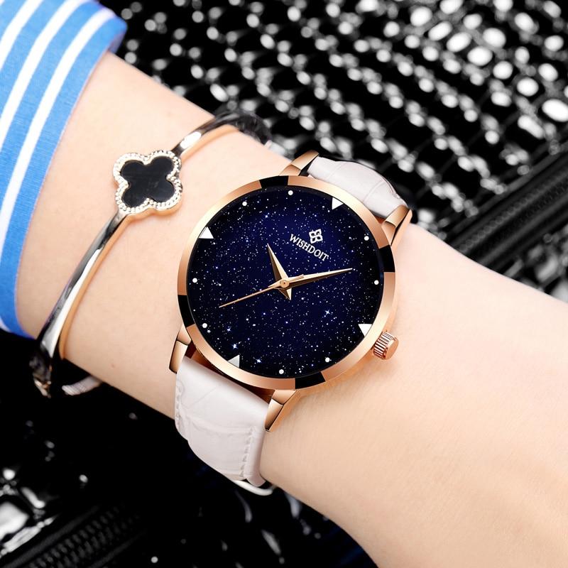 Relojes mujer 2017 Relojes de la correa de cuero pulseras reloj de cuarzo reloj de pulsera Relojes vestidos de las mujeres Relogio Feminino