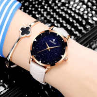 Relojes mujer 2017Leather Belt Watches Bracelets Quartz Watch Women's Wristwatches Clocks Women Dresses Relogio Feminino