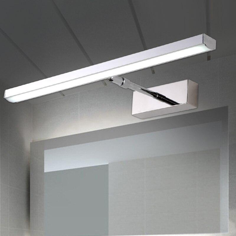 Moderní krátká koupelna nastavitelný úhel LED zrcadlo světlo kosmetické nerezové oceli zatahovací koupelnové skříňky nástěnné svítidlo