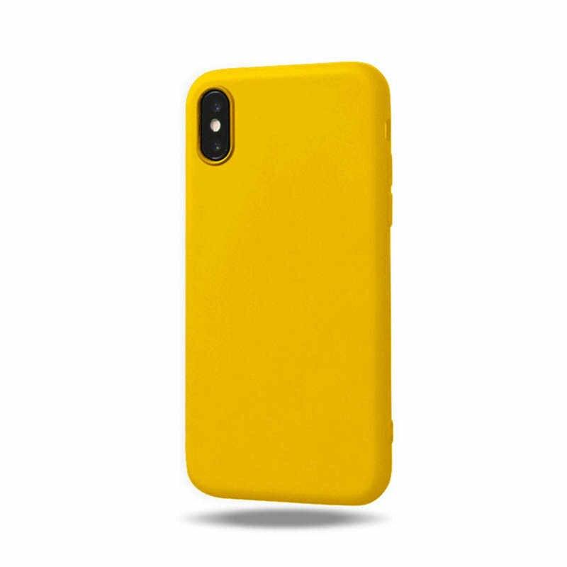 الأصلي لينة سيليكون حقيبة لهاتف أي فون 6 S 6 S 7 8 Plus 5 5s X 10 XR XS Max 6Plus 6SPlus 7Plus كاندي المضادة للخبط ملحقات الهاتف