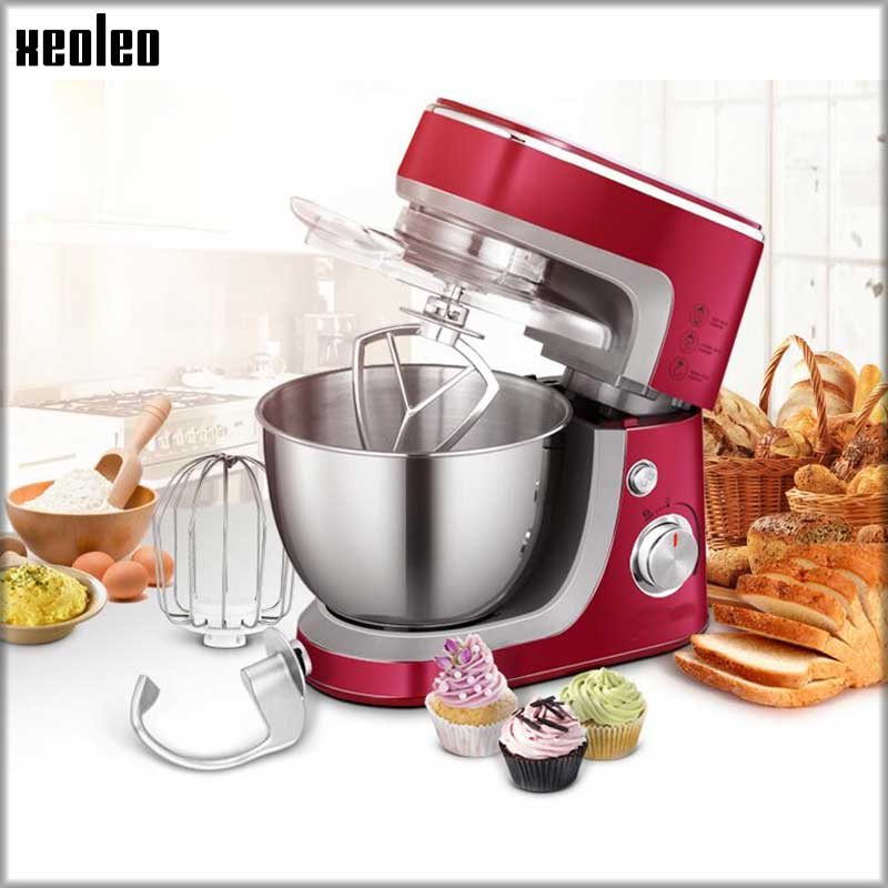 XEOLEO 3.5L Egg beater 600W Dough mixer stepless food mixer Red Stand mixer Dough kneading machine 220V Household Chef machine new multi functional dough mixing machine electric dough mixer small automatic food mixers egg beater commercial chef machine