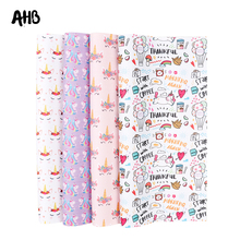 AHB Synthetic Leather Fabric Horn Horse Printed Faux Leather Sheets For DIY Kids Hair Accessories Theme Party Decor Materials цена и фото
