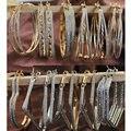 Смешивания Оптовой продажи Серьги Обруча Модные Драгоценности Большой Хооп Серьги для Женщин 12 Пар/лот Смешанные Конструкции
