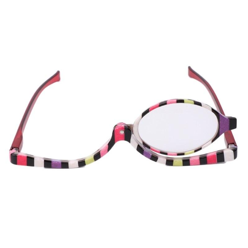 Увеличительное стекло для макияжа, косметическое стекло для чтения, складное стекло для глаз, es + 1,5 ~ + 4,0