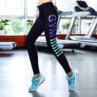 Haute qualité fille de compression de yoga courir gym pantalon sexy élastique serré de sport femmes fitness leggings pantalon