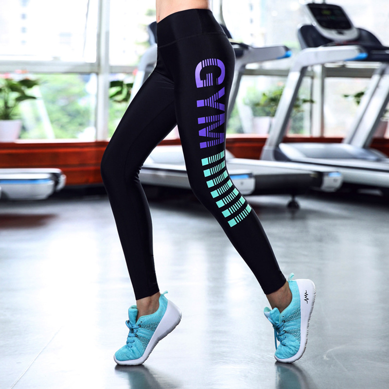 High Quality GirlS Compression Yoga Running GYM Pants Sexy Elastic Tight Sportswear Women Fitness Leggings Pants