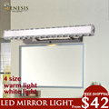 Indoor lighting GENESIS LIGHTING LED crystal GLMZGJ3101-Mirror wall light for bathroom bedroom 4 size dimmable light