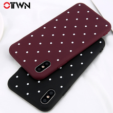 ФОТО ottwn wave point phone case for iphone x 8 7 6 6s plus simple dots pattern candy color soft tpu cover case for iphone 5 5s se