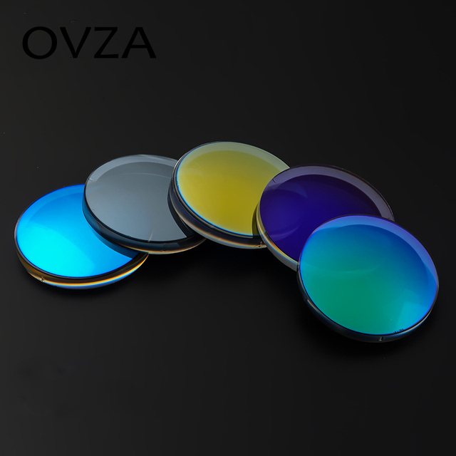 3810bb265f Ovza Free Form 1.61 Ultra thin Myopic lenes Optical Degree glasses lenses  Colorful coating lens