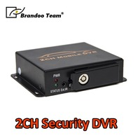 Free shipping 2CH CAR DVR for taxi,bus,trainning car used, auto recording, DIY installation