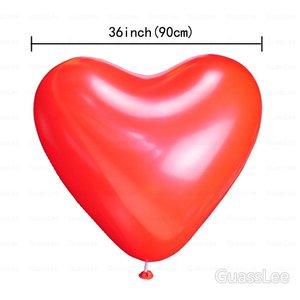 Image 3 - Гигантские латексные шары, 50 шт./лот, 36 дюймов, Гелиевый шар в форме сердца, украшение для свадьбы, дня рождения, подарки, игрушки