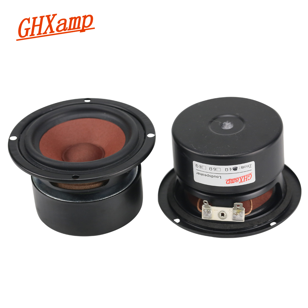 GHXAMP 3 INCH 4OHM 20 W Full Range Speaker Drum Papier Midrange Woofer Luidsprekers Voor Thuisbioscoop PC Bluetooth Hifi DIY 1 Pairs