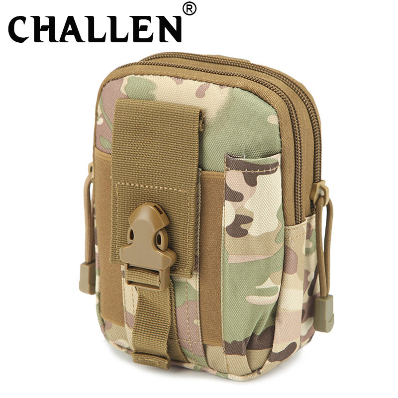Men/Women Outdoor Travel Military Molle Sport  6 Inch Phone Bag Waterproof Waist Pack Belt Pouch Tactical Small Bag AA-04