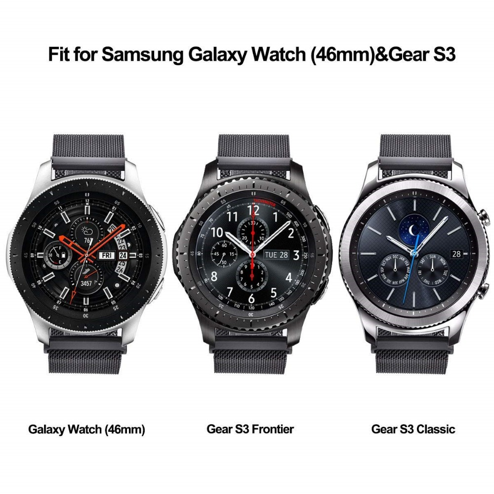 20mm 22mm Milanese Loop Strap For Samsung Gear S3 Band Galaxy Watch 46mm 42mm Active 2 44mm 40mm Strap for Huawei Watch GT 2 2E 1