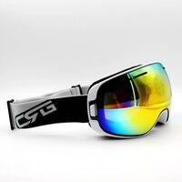 Multi Lens White Frame Brand New Ski Goggles UV400 Anti Fog Eyewear Mask Glasses Skiing Men