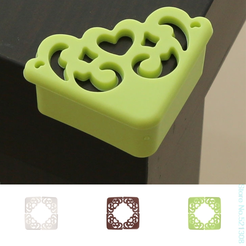 4pc Baby Hollow Flower Safety Corner Protector Desk Table Bumper Edge Guard Cushion Convenient Drop Ship