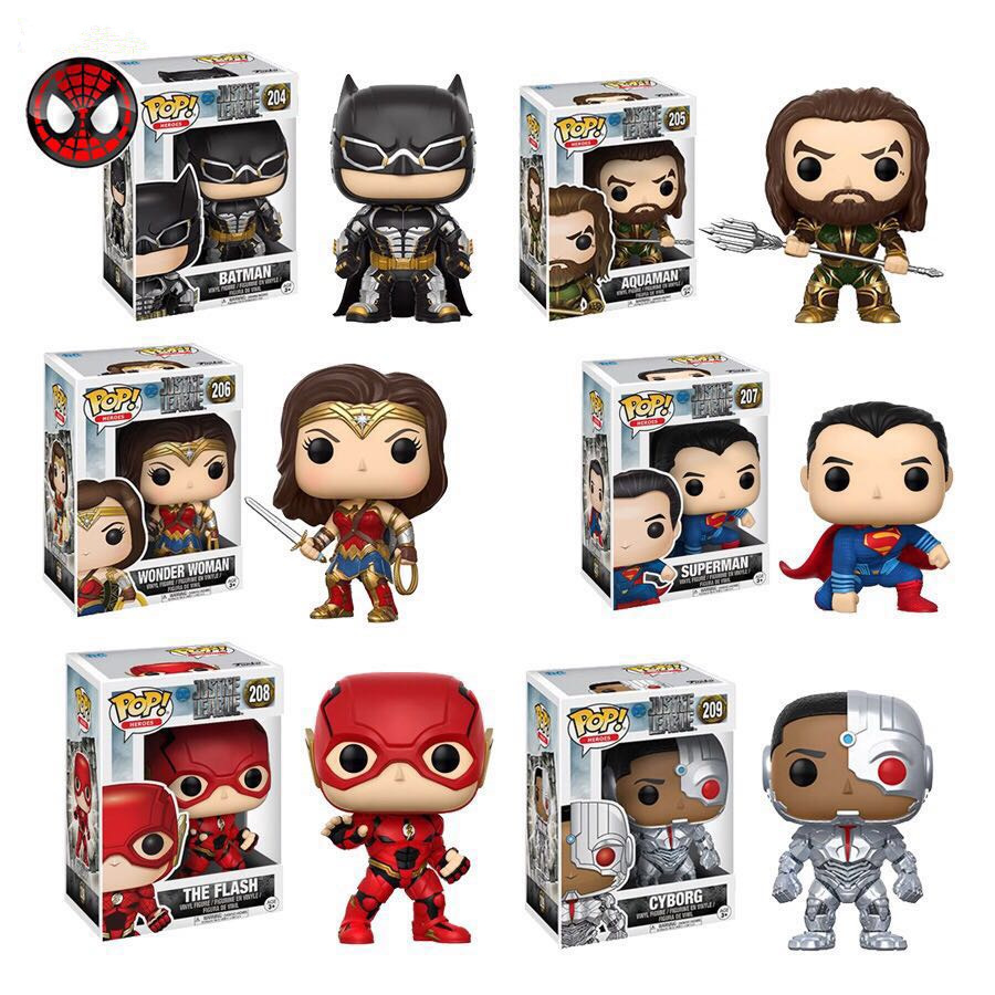 <font><b>Funko</b></font> <font><b>pop</b></font> Original Movies: Justice League - Superman, Aquaman, The <font><b>Flash</b></font>, Woman, Cyborg <font><b>Action</b></font> <font><b>Figure</b></font> Collectible <font><b>Model</b></font> Toy