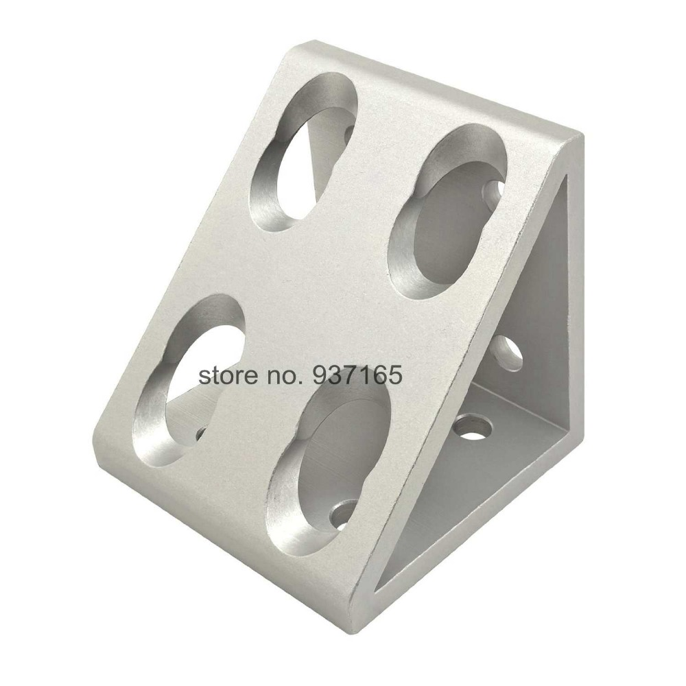 8 hole Inside Guesset Corner Angle L Brackets Fastener Fitting Round Hole for 4590 9090 Aluminum Profile Extrusion 4590 9090 4 hole inside guesset corner angle l brackets fastener fitting round hole for 4545 45x45 aluminum profile extrusion 4545