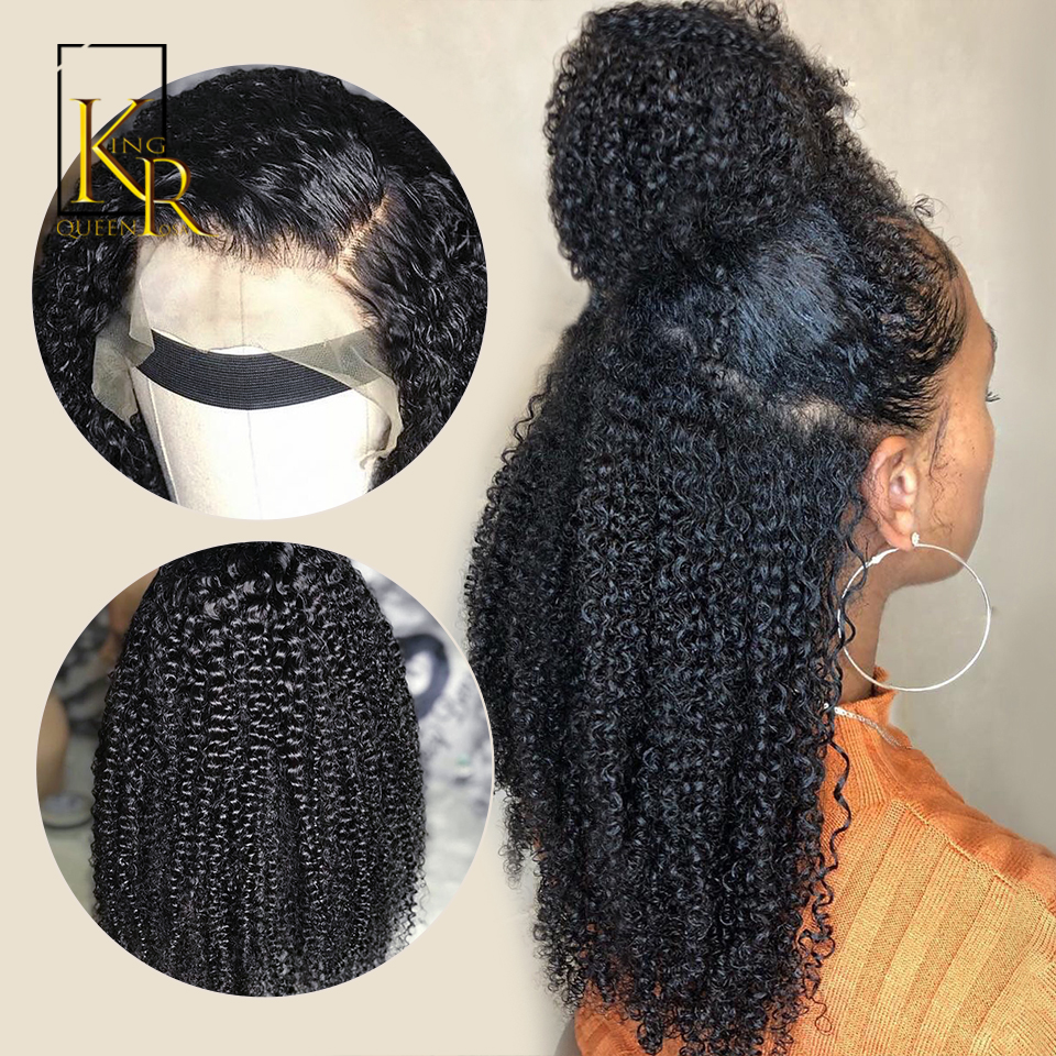 360 Lace Frontal Wigs Brazilian Remy Kinky Curly Wig Lace Front Human Hair Wigs With Baby