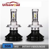 Urbanroad 2Pcs Auto H4 H7 Led Bulb Headlight 3000K 6500K 8000k High Low Beam Car Light