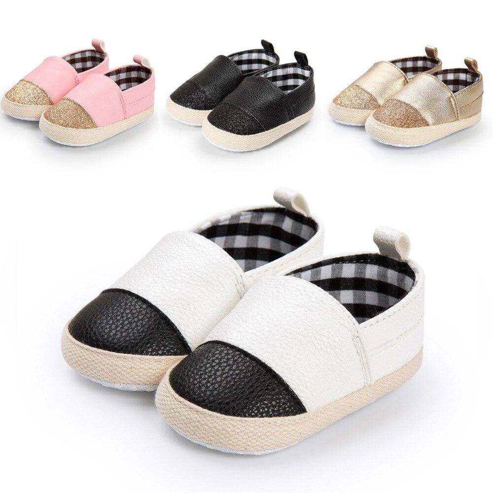4 kleuren merk lente / herfst baby schoenen mode gouden pu lederen - Baby schoentjes - Foto 1