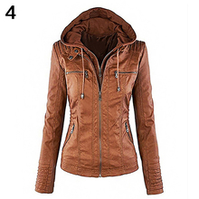 Women Casual Long Sleeve Slim Hooded Coat Jacket Winter Warm Zipper Outwear