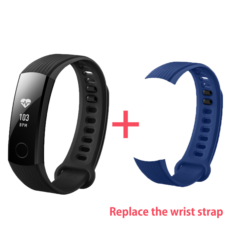 In Stock Original Huawei Honor Band 3 Smart Wristband Swimmable 5ATM 0.91 OLED Screen Touchpad Heart Rate Monitor Push Message huawei honor a2 smart wristband 0 96 oled screen heart rate monitor show message end call ip67 glory play bracelet a2