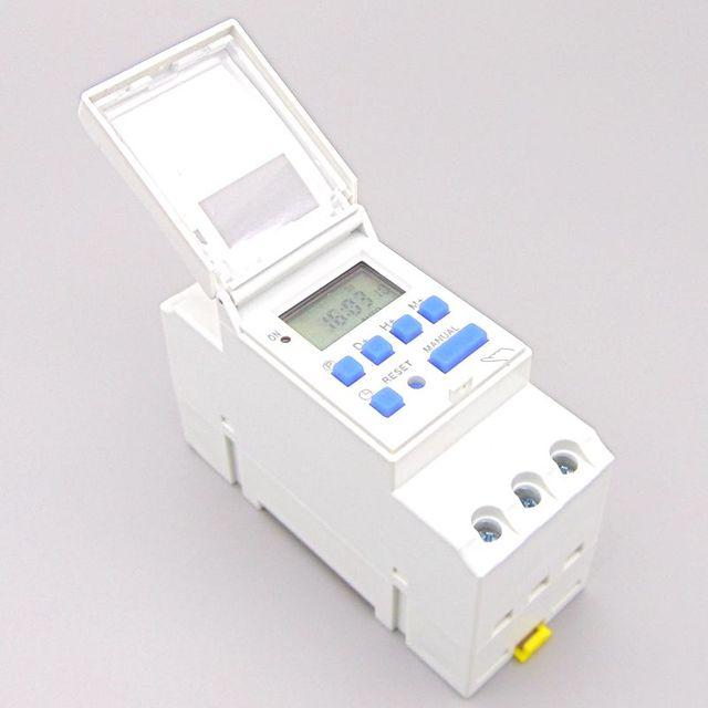 Еженедельно 7 дней программируемый цифровой реле времени таймера Управление AC 220 В 230 В 110 В 24 В 12 В 16A Din рейку