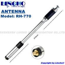 RH770 SMA female long telescopic VHF/UHF 144/430MHz Dual band Antenna UV-5R sma walkie talkie