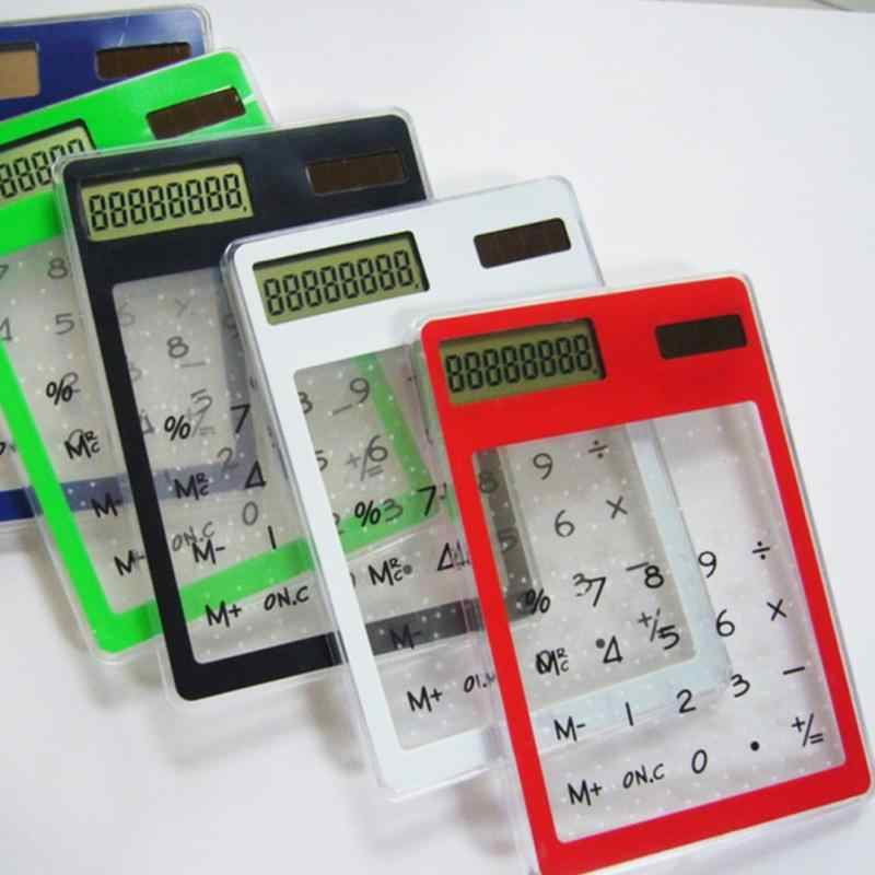 Mini Solar Calculator Ultra Slim LCD 8 Digital Touch Screen