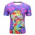 2017 Mais Novo Dos Homens/Mulheres Harajuku Hip hop T-shirt 3d Impressão Verão Tops Tees Simpson/Jordan/esqueleto T-shirt T camisa dropship