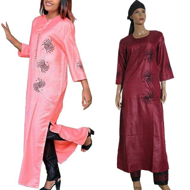 Bộ 3 Bộ 2020 Thời Trang Châu Phi Quần Áo Dành Cho Nữ Áo Quần Khăn Bộ Bazin Riche Áo Dây Thêu Châu Phi Quần Áo S2946