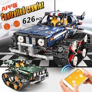 Image 1 - 金型王テクニックrcクローラレーシングカーリモートコントロール車のモデルのビルディングセット子供たちのおもちゃクリスマスギフト組み立てるレンガ