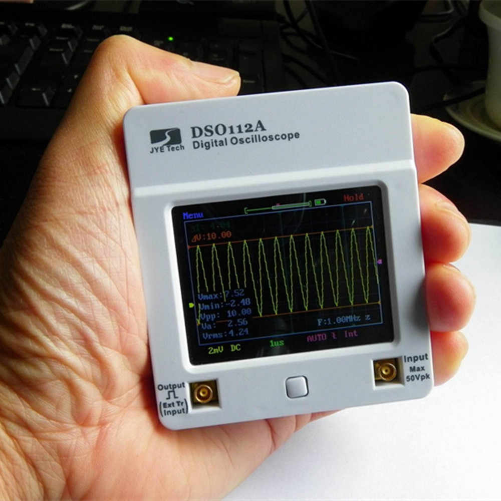 Osciloscopio DSO 112A TFT Touch Screen Draagbare Mini Digitale Oscilloscoop USB Interface 2MHz 5Msps oscyloskopy osciloscop
