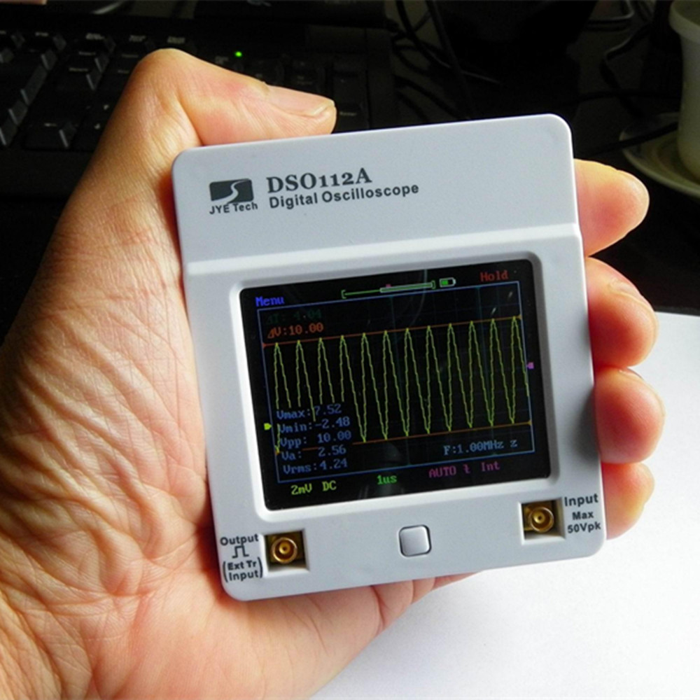 Osciloscopio DSO 112A TFT Touch Screen Tragbare Mini Digital Oszilloskop USB Interface 2MHz 5Msps oscyloskopy osciloscop