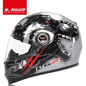Image 3 - מקורי LS2 FF358 מלא פנים moto rcycle קסדת ls2 moto צלב מירוץ גבר אישה casco moto קסדה LS2 ECE מאושר אין משאבת