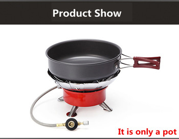 High quality Ultralight Camping Cookware Frying Pot outdoor tableware Picnic 2-3 Person Frying Pan Fry Pan Portable Single Pot 5