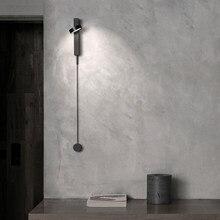 Led escurecimento lâmpada de parede quarto cabeceira luz parede decoração interior luminária branco/ouro/preto com interruptor dimmer ac220v