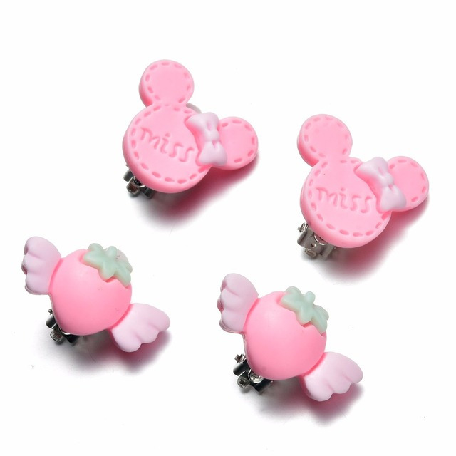 7 Pairs Kids Toddler Little Girls Clip On Earrings Value Set Birthday Party Gift 3