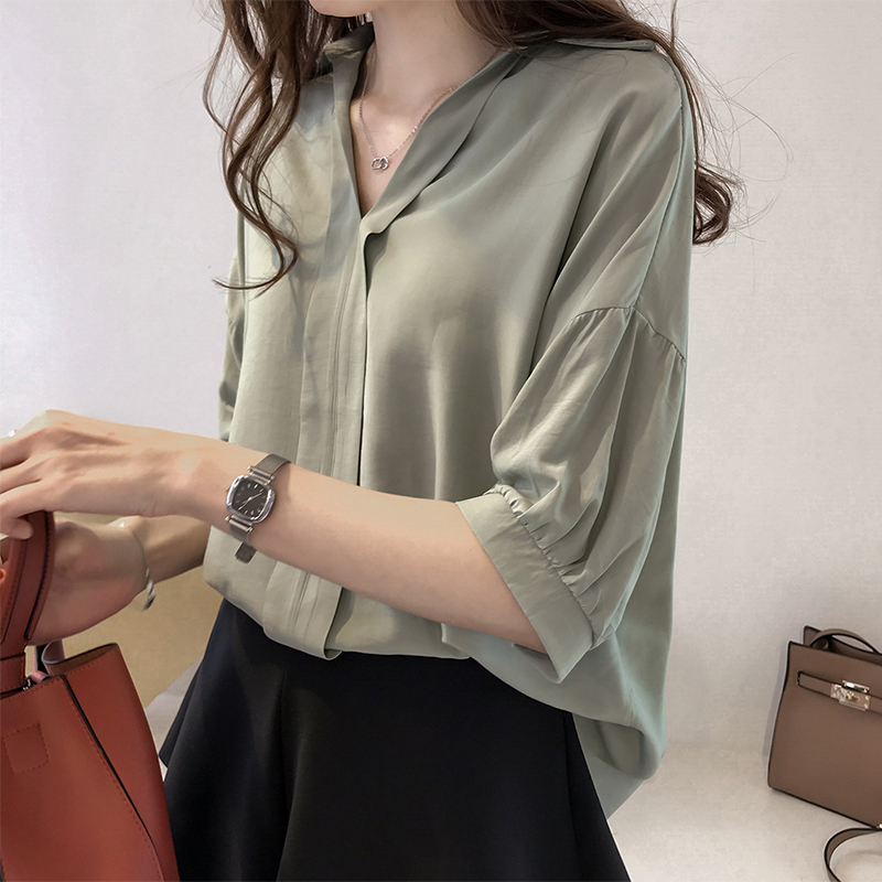 Blusas Femininas 2018 New Casual Shirt Half Sleeve Blouse Womens Tops And Blouses Loose Ladies Tops Woman Clothes Chemise Femme