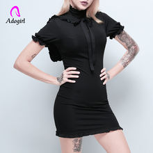 Женское платье adogirl черное повседневное для фитнеса вечеринок