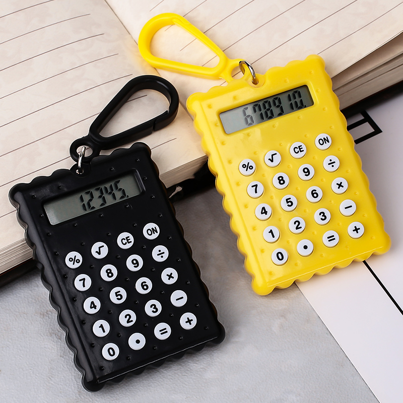 Electronic Calculator Office-Supplies Pocket School Digit Handheld Mini 8 Biscuit-Shape