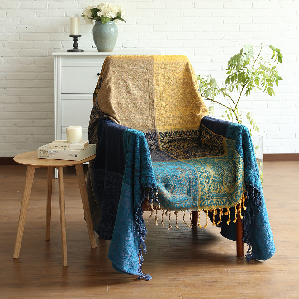 Blanket Sofa Cover: Battilo Colorful Decorative Woven Tapestry Throw Blanket