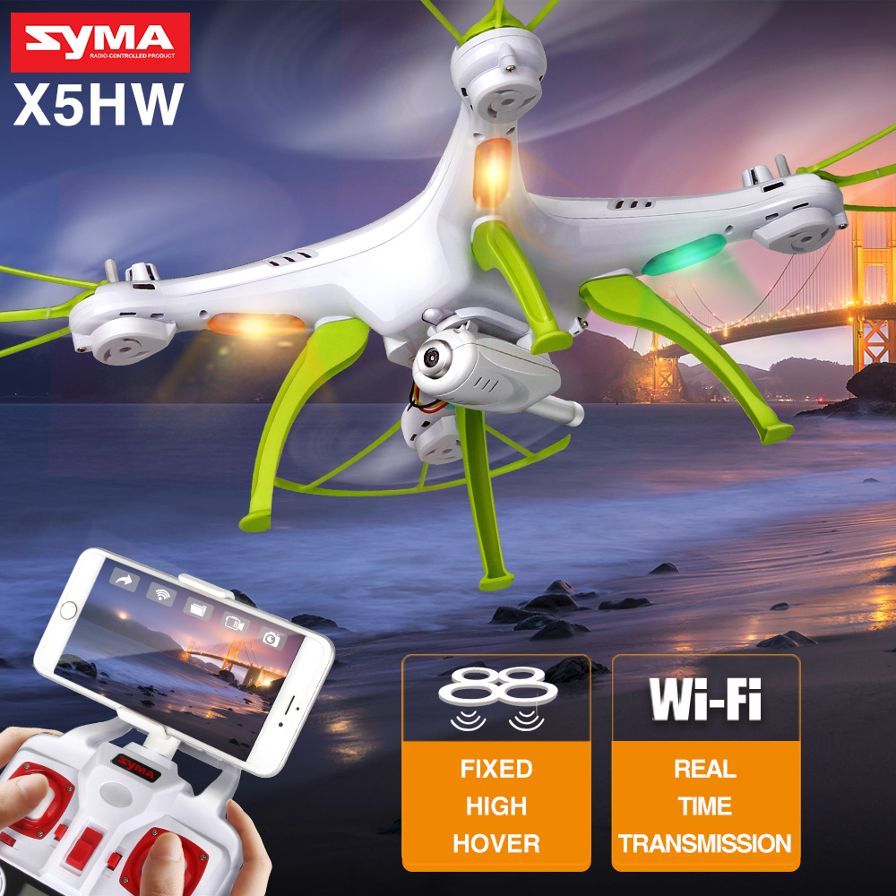 X5HW Dron RC Quadcopter with Camera Wifi FPV Transmission Hover Function 4CH 2.4G Remote Control Drones By Syma syma rc quadcopter drone x5sw x5hw wifi fpv hd camera real time transmission 4ch 2 4g remote control helicopter rc drones toy