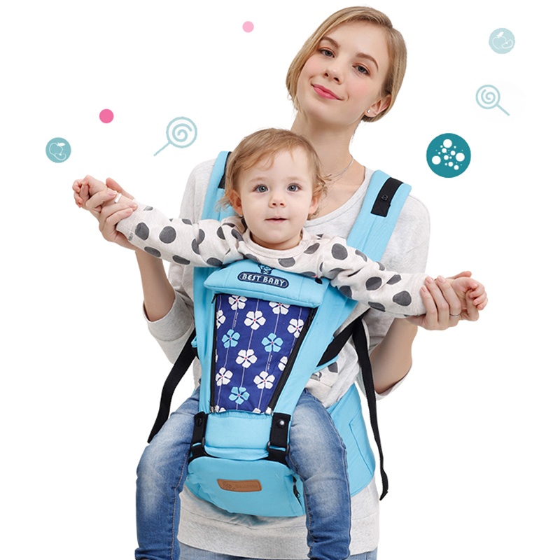100% cotton Breathable Multifunctional Baby Carrier Infant hipseat cotton Sling toddler backpack Pouch Wrap Kangaroo MH1010