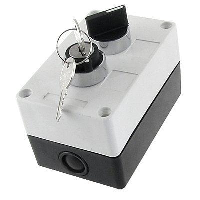 все цены на NO Normally Open 2 Position Key Lock Rotary Selector Select Switch Station Box онлайн