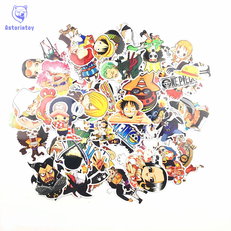 Hot 60pcs PVC One Piece Stickers Fashion High Quality Waterproof PVC For Suitcase Refrigerator Skateboard Laptop