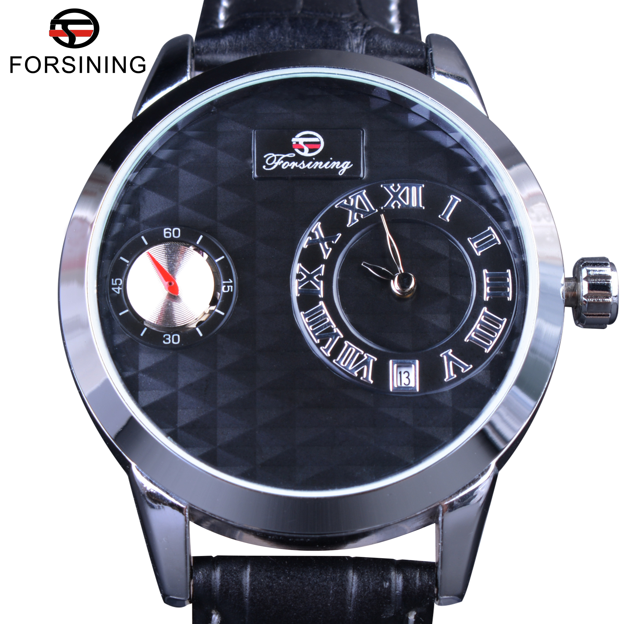 Forsining Small Dial Second Hand Display Obscure Desig Mens Watches Top Brand Luxury Automatic Watch Fashion Casual Clock Men forsining date month display rose golden case mens watches top brand luxury automatic watch clock men casual fashion clock watch