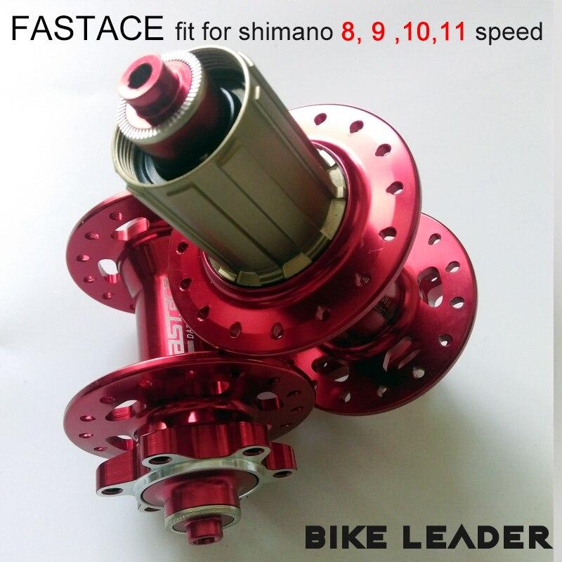 Fastace DA201 haute qualité scellé roulement frein à disque 24 28 32 trous vtt VTT moyeux rouge noir 8 9 10 11 vitesse moyeu de vélo